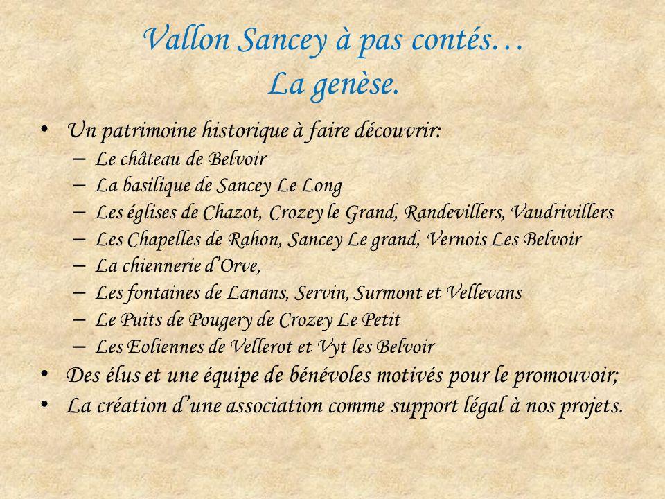 Vallon Sancey à pas contés… La genèse.