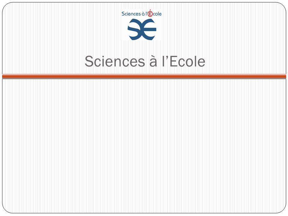Sciences à lEcole