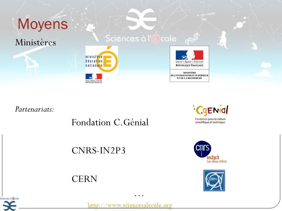 Les actions http://www.sciencesalecole.org