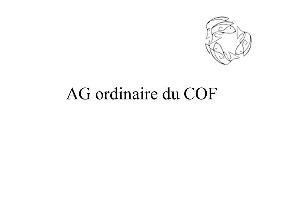 AG ordinaire du COF