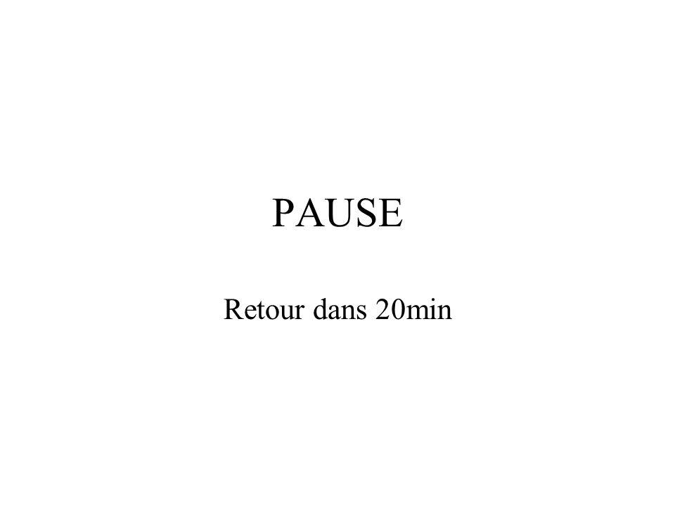 PAUSE Retour dans 20min