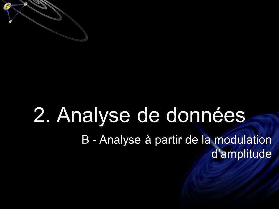 2. Analyse de données B - Analyse à partir de la modulation damplitude