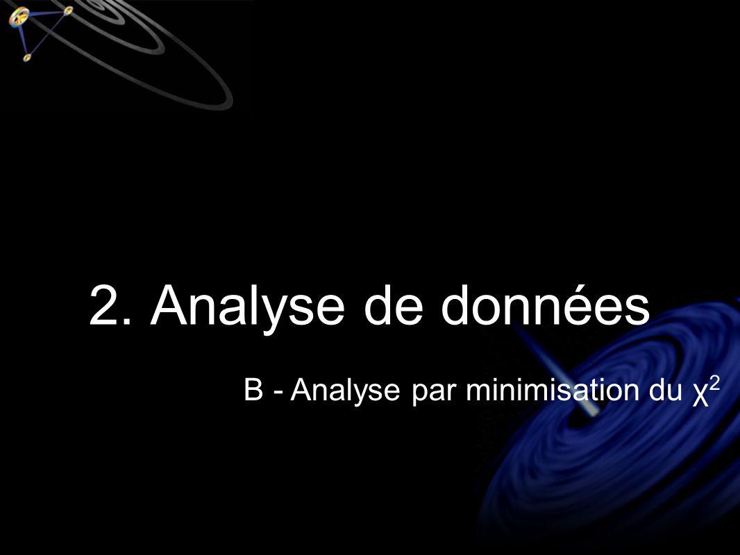 2. Analyse de données B - Analyse par minimisation du χ 2