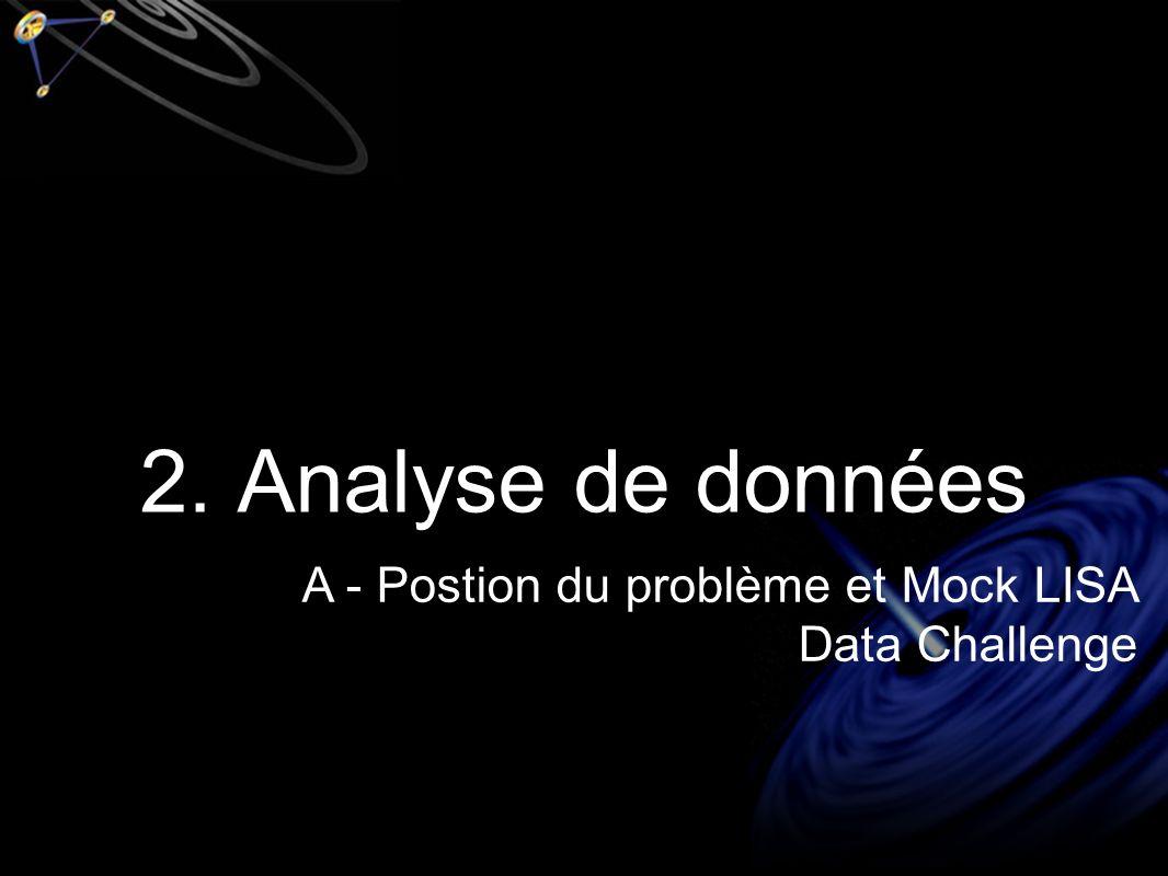 2. Analyse de données A - Postion du problème et Mock LISA Data Challenge