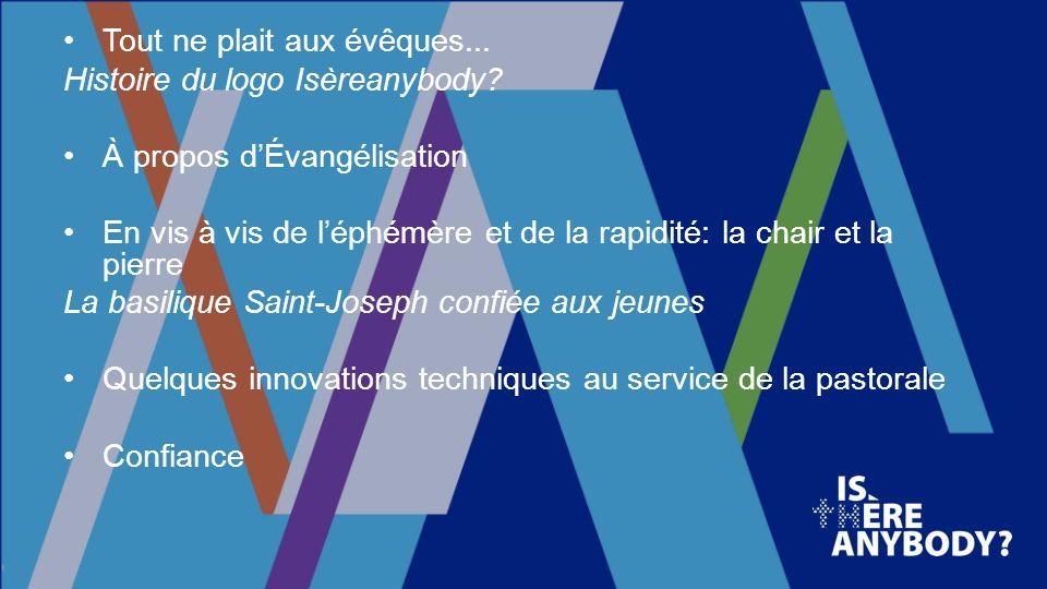 Tout ne plait aux évêques...Histoire du logo Isèreanybody.