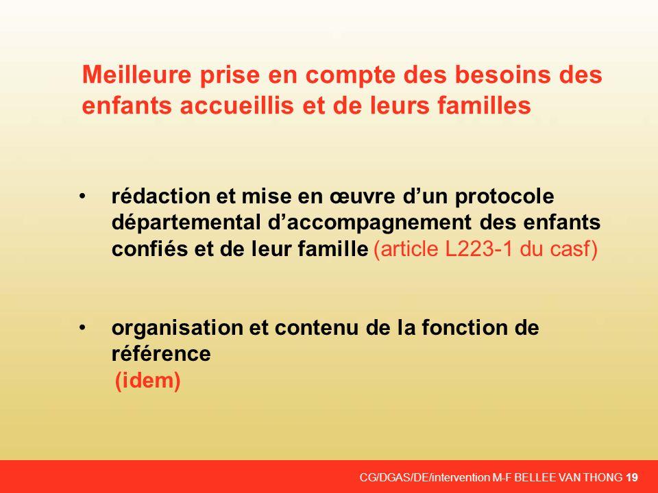 CG/DGAS/DE/intervention M-F BELLEE VAN THONG 19 rédaction et mise en œuvre dun protocole départemental daccompagnement des enfants confiés et de leur