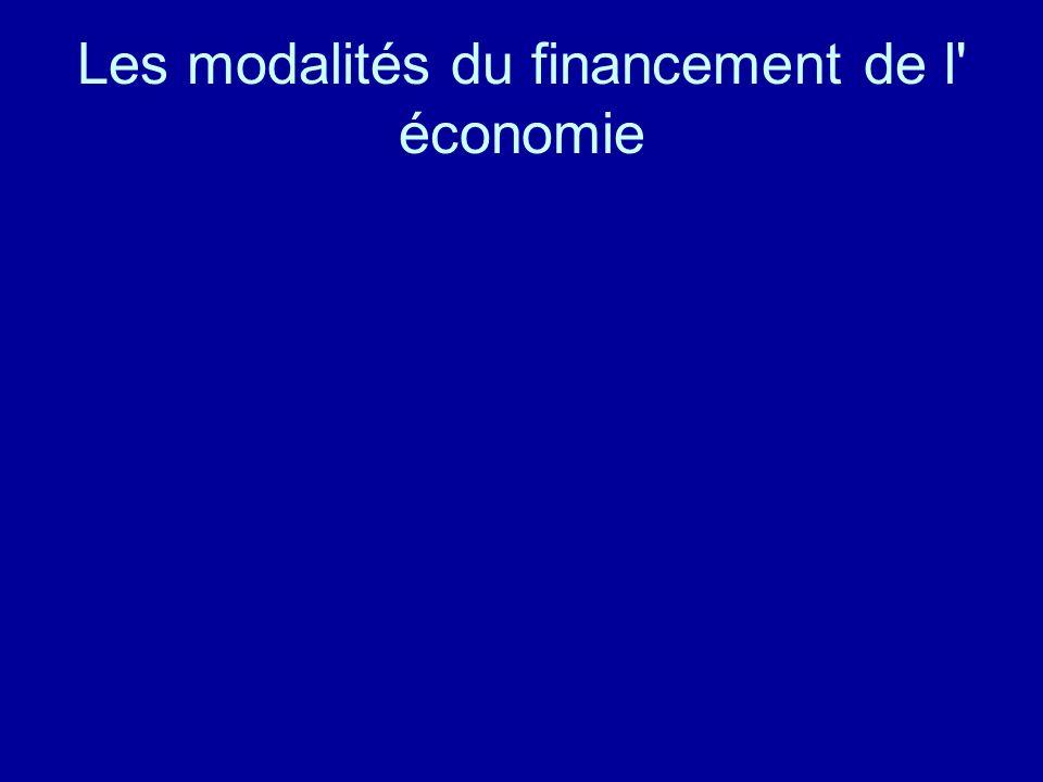 Les modalités du financement de l' économie