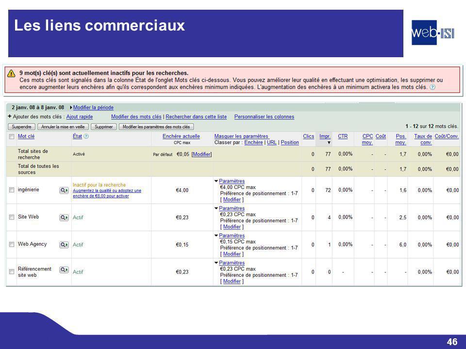 46 Web-ISI Les liens commerciaux