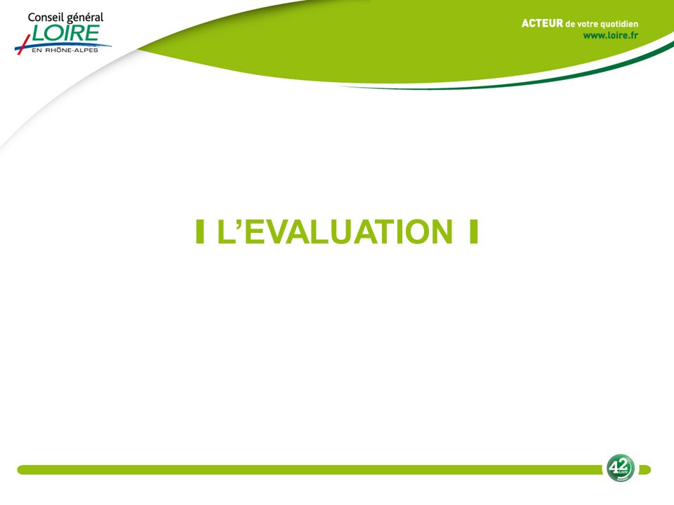 I LEVALUATION I