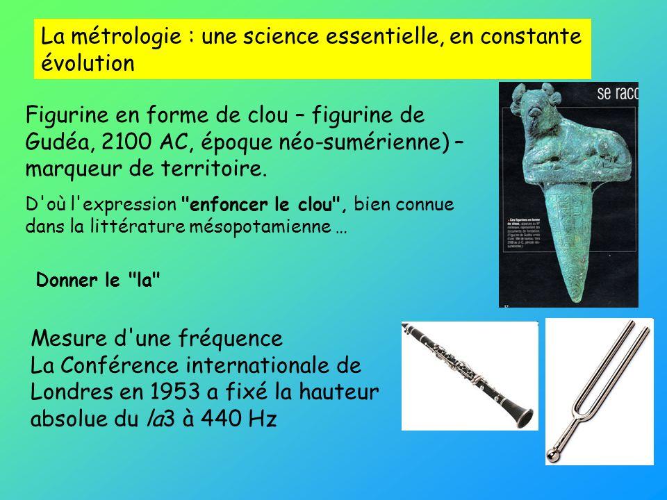 La métrologie : une science essentielle, en constante évolution Figurine en forme de clou – figurine de Gudéa, 2100 AC, époque néo-sumérienne) – marqu