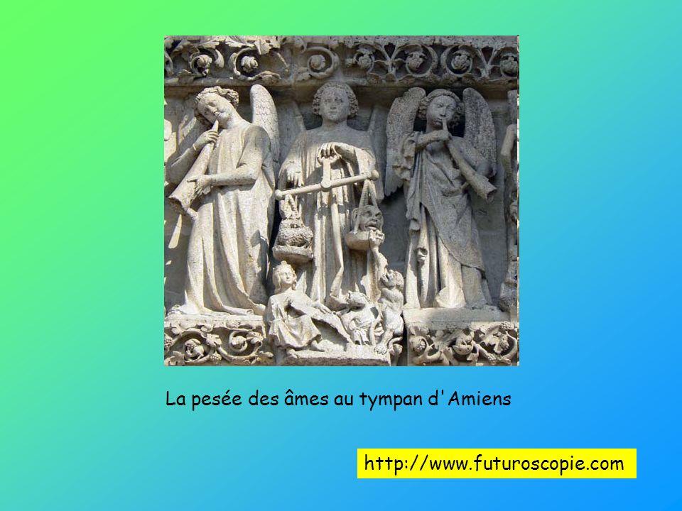 La pesée des âmes au tympan d'Amiens http://www.futuroscopie.com