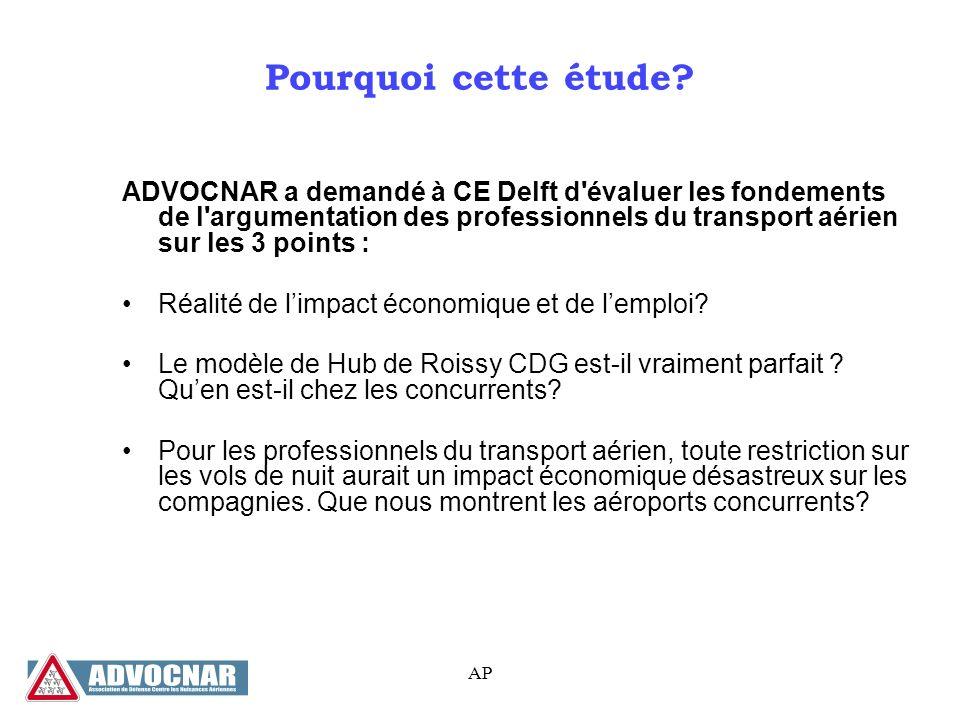 AP Pourquoi cette étude.Le transport aérien participe à léconomie et génère des emplois.