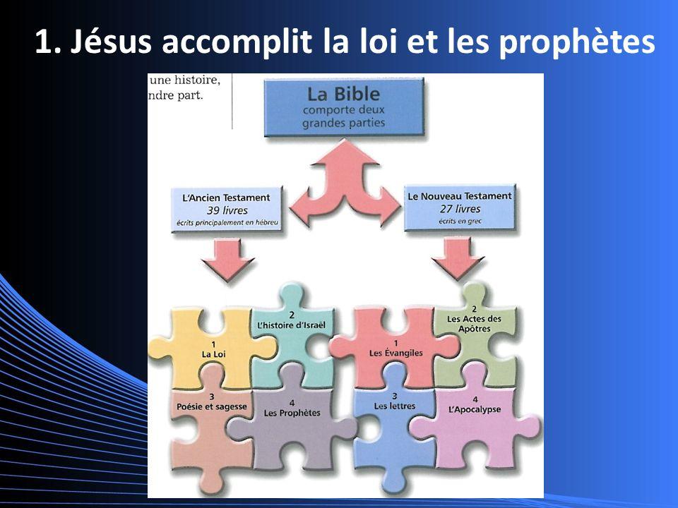 1. Jésus accomplit la loi et les prophètes