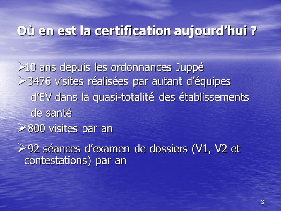 3 Où en est la certification aujourdhui .