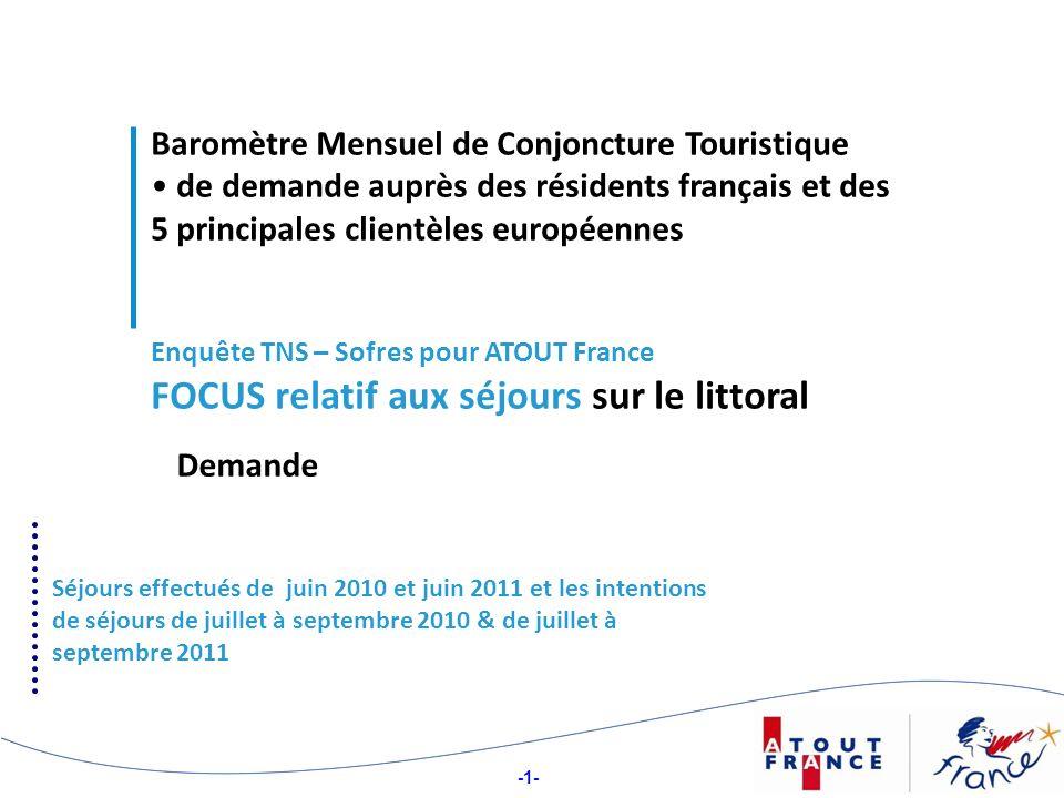 -22- Structure des partants ou intentionnistes français, selon la PCS détaillée
