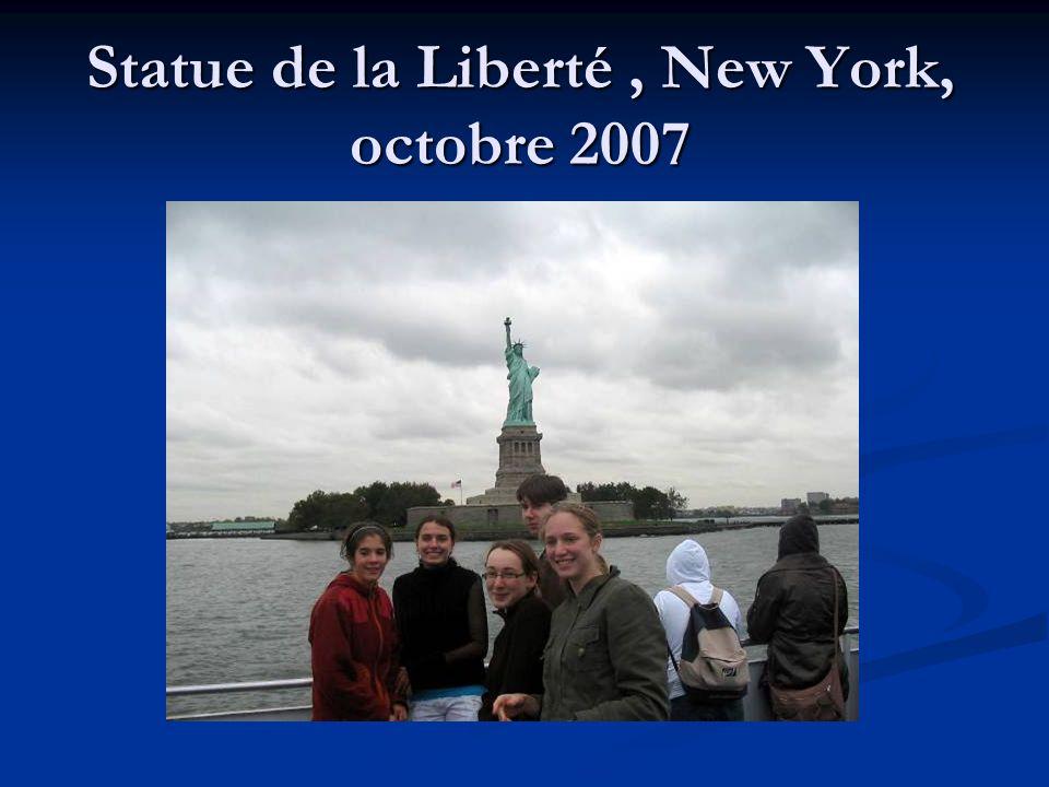 Statue de la Liberté, New York, octobre 2007