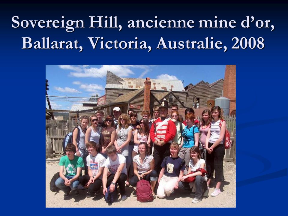 Sovereign Hill, ancienne mine dor, Ballarat, Victoria, Australie, 2008