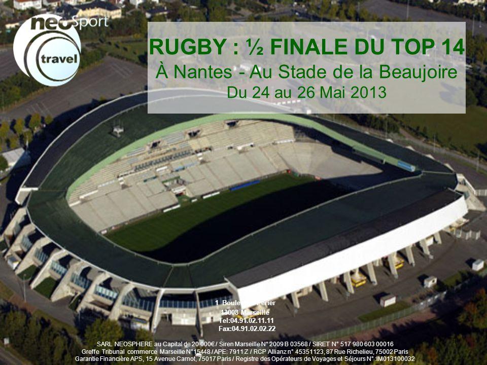 2 Vendredi 24 Mai CLERMONT NANTES - 09h00, RDV des participants à lentreprise pour le départ vers Nantes.