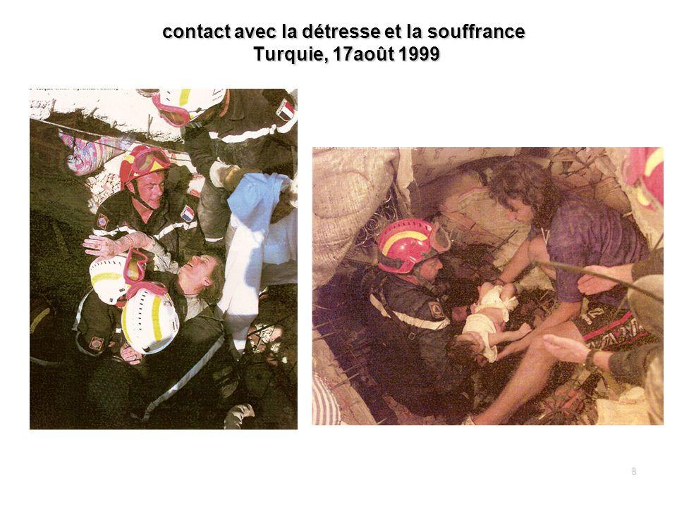 8 contact avec la détresse et la souffrance Turquie, 17août 1999