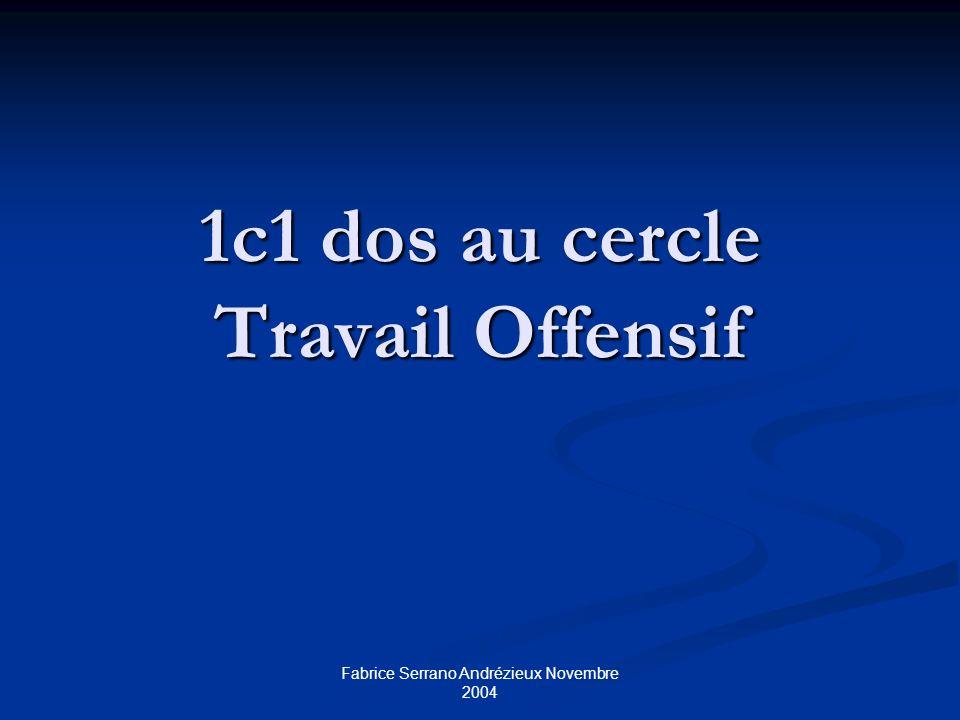 Fabrice Serrano Andrézieux Novembre 2004 1c1 dos au cercle Travail Offensif