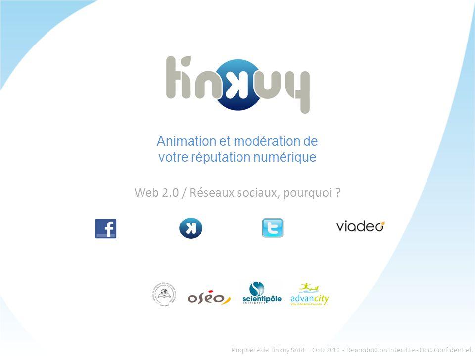 Animation et modération de votre réputation numérique Web 2.0 / Réseaux sociaux, pourquoi .