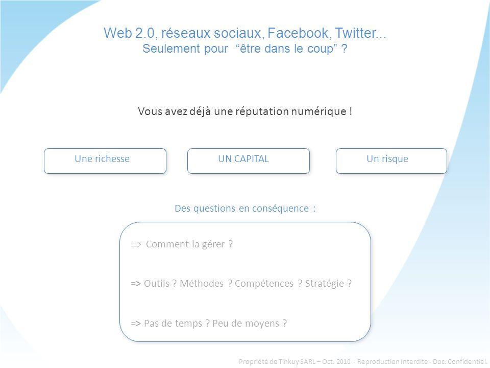 Web 2.0, réseaux sociaux, Facebook, Twitter... Seulement pour être dans le coup .