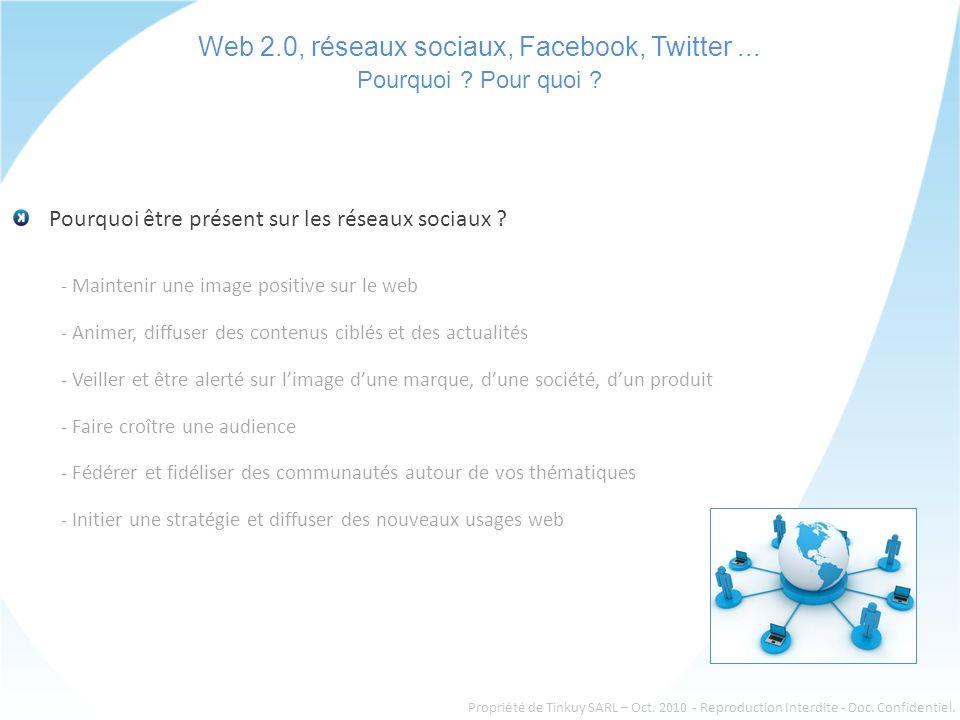 Web 2.0, réseaux sociaux, Facebook, Twitter... Pourquoi .