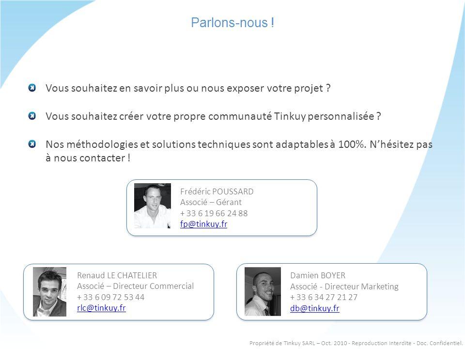 Renaud LE CHATELIER Associé – Directeur Commercial + 33 6 09 72 53 44 rlc@tinkuy.fr Renaud LE CHATELIER Associé – Directeur Commercial + 33 6 09 72 53 44 rlc@tinkuy.fr Parlons-nous .