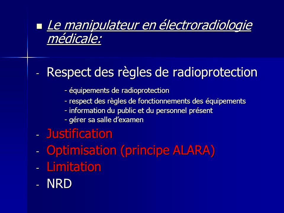 Le manipulateur en électroradiologie médicale: Le manipulateur en électroradiologie médicale: - Respect des règles de radioprotection - équipements de