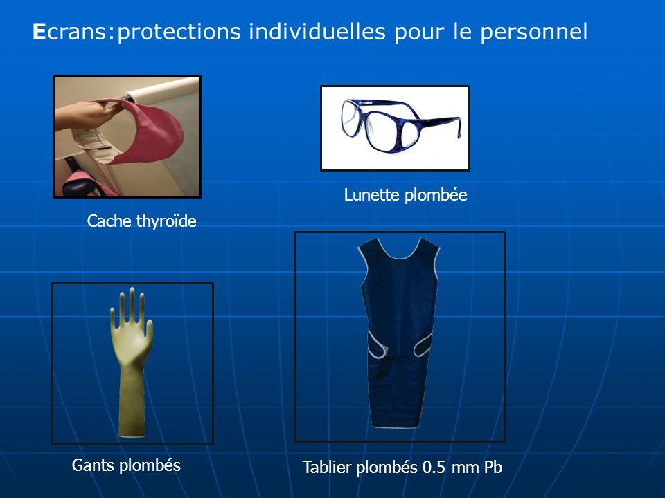 Cache thyroïde Ecrans:protections individuelles pour le personnel Lunette plombée Gants plombés Tablier plombés 0.5 mm Pb