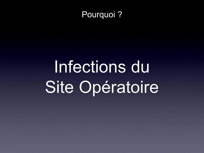 Pourquoi ? Infections du Site Opératoire