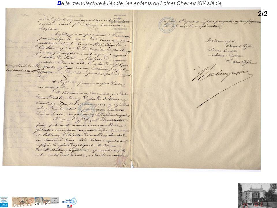 De la manufacture à lécole, les enfants du Loir et Cher au XIX siècle. 2/2