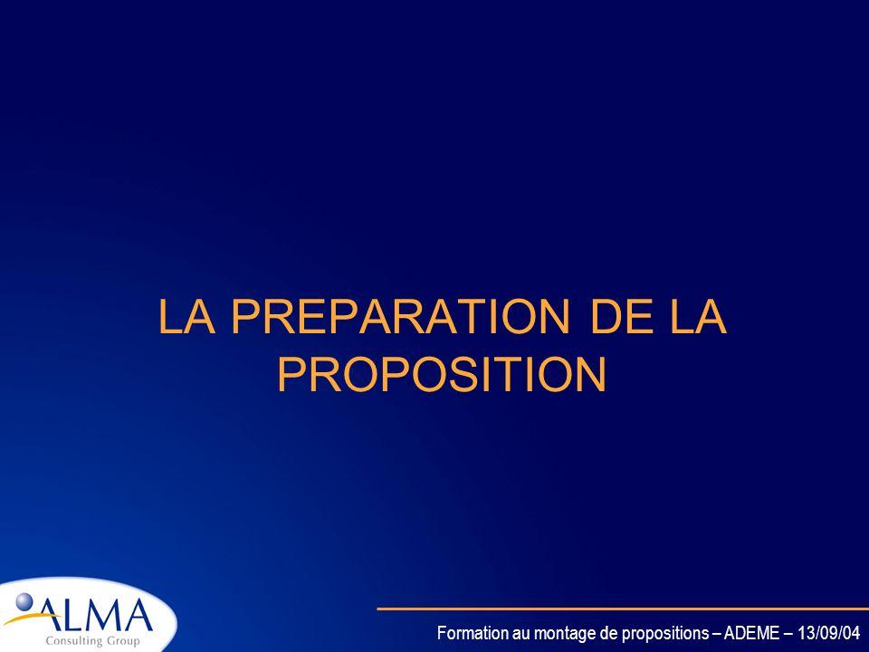 Formation au montage de propositions – ADEME – 13/09/04 Informer la Commission Changements significatifs dans le programme de travail /planning/ budge