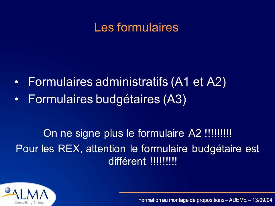 Formation au montage de propositions – ADEME – 13/09/04 Le guide du proposant Comment préparer la proposition ? Quelles sont les parties à traiter ? L
