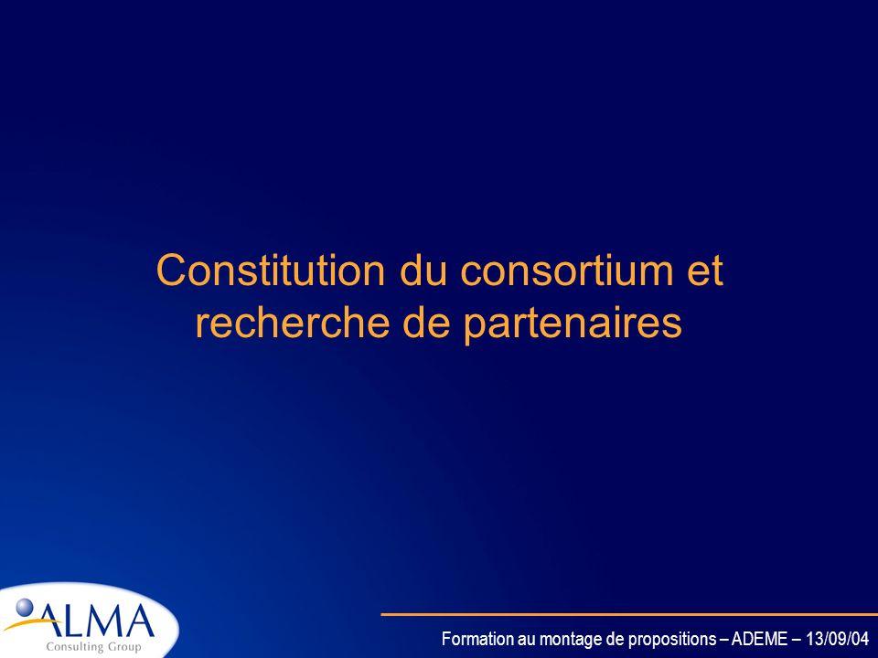Formation au montage de propositions – ADEME – 13/09/04 Le planning retro-actif