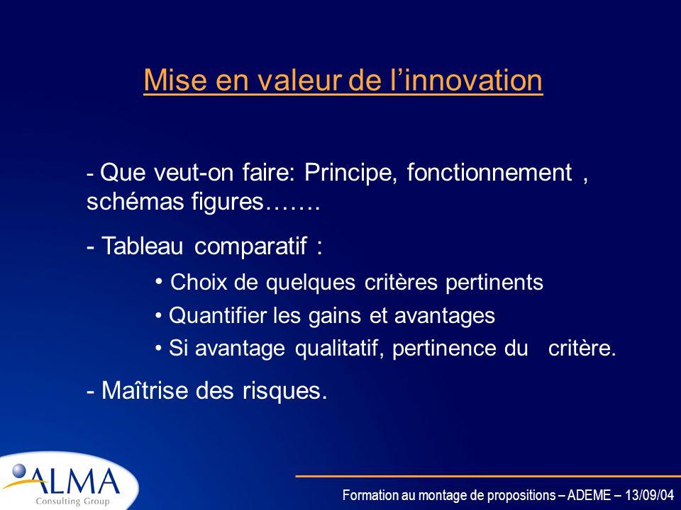 Formation au montage de propositions – ADEME – 13/09/04 Limitations ….. - Limitations techniques - Limitations économiques - Limitations réglementaire