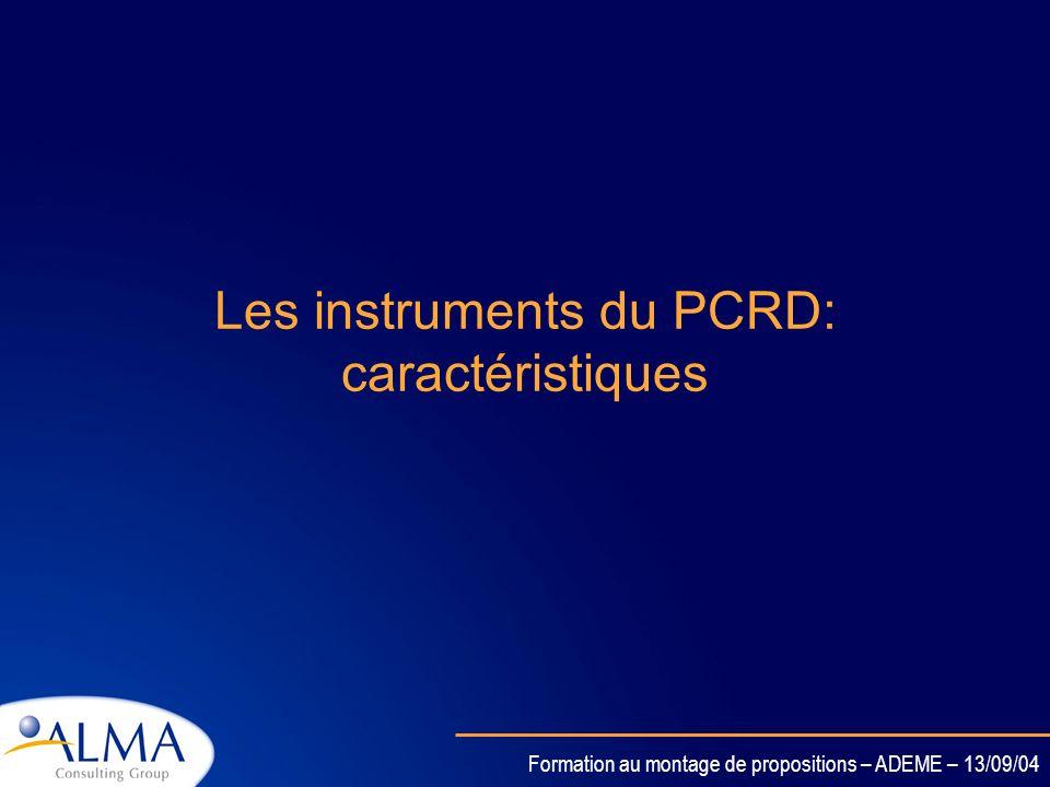 Formation au montage de propositions – ADEME – 13/09/04 Retour sur les premiers appels à propositions Résultats français globalement satisfaisants. Su