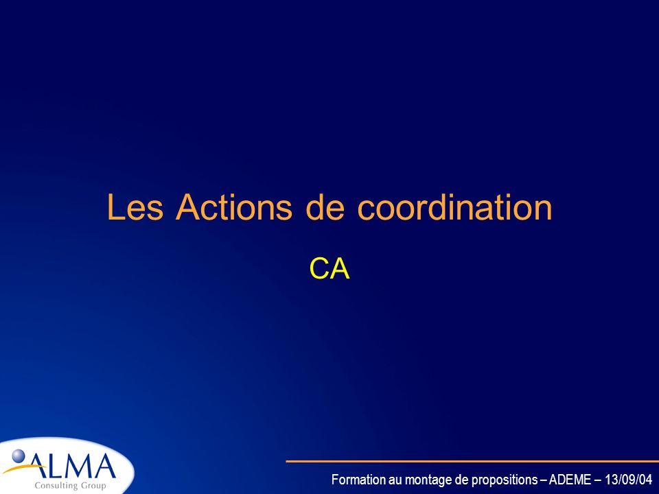 Formation au montage de propositions – ADEME – 13/09/04 Activités couvertes dans un STREP Principalement des activités de recherche et dinnovationPrin