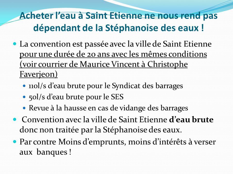 Acheter leau à Saint Etienne ne nous rend pas dépendant de la Stéphanoise des eaux .
