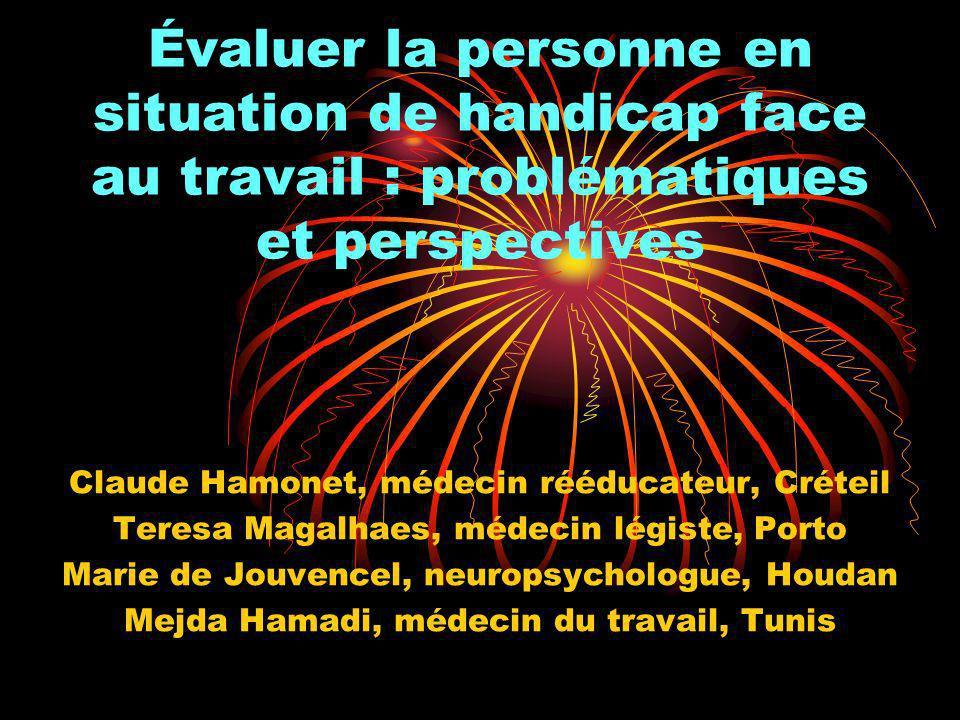 Les références conceptuelles Le courant « situationniste » et environnemental de constitution des handicaps des handicaps (Créteil, Saint-Etienne, Québec).