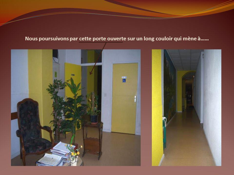 Nous voici dans le vestibule, qui après 3 marches, nous conduit à une salle dattente… Cest ici que se tient le service administratif de la Maison…