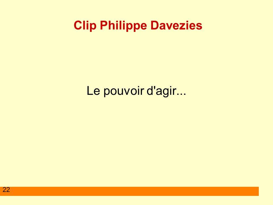 22 Clip Philippe Davezies Le pouvoir d'agir...