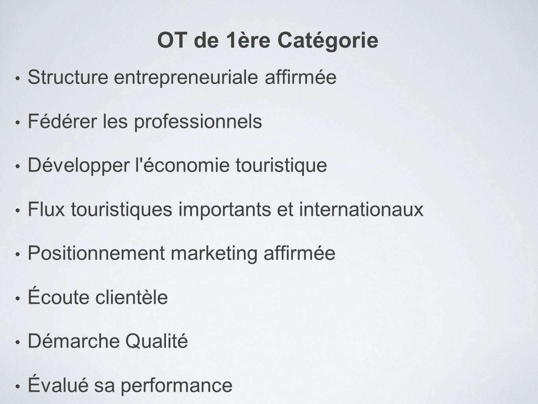 Structure entrepreneuriale affirmée Fédérer les professionnels Développer l'économie touristique Flux touristiques importants et internationaux Positi