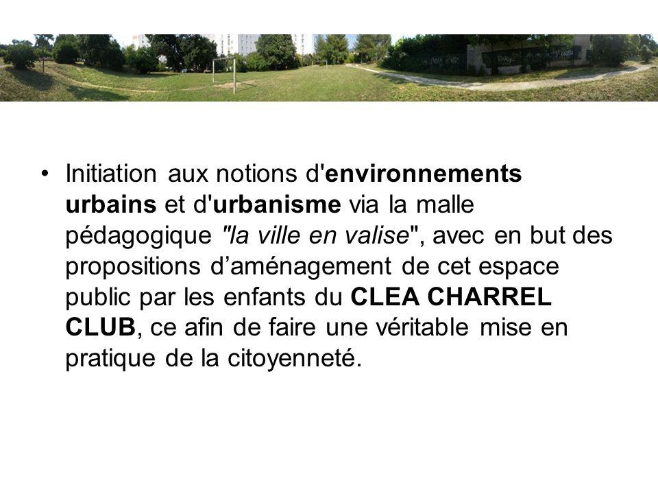 Initiation aux notions d'environnements urbains et d'urbanisme via la malle pédagogique