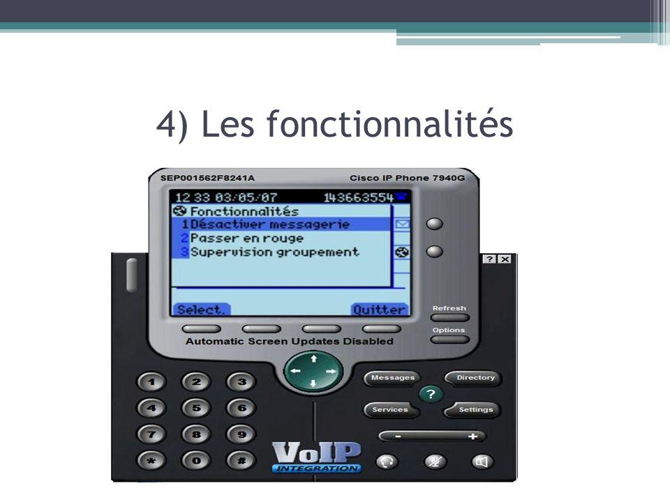 4) Les fonctionnalités