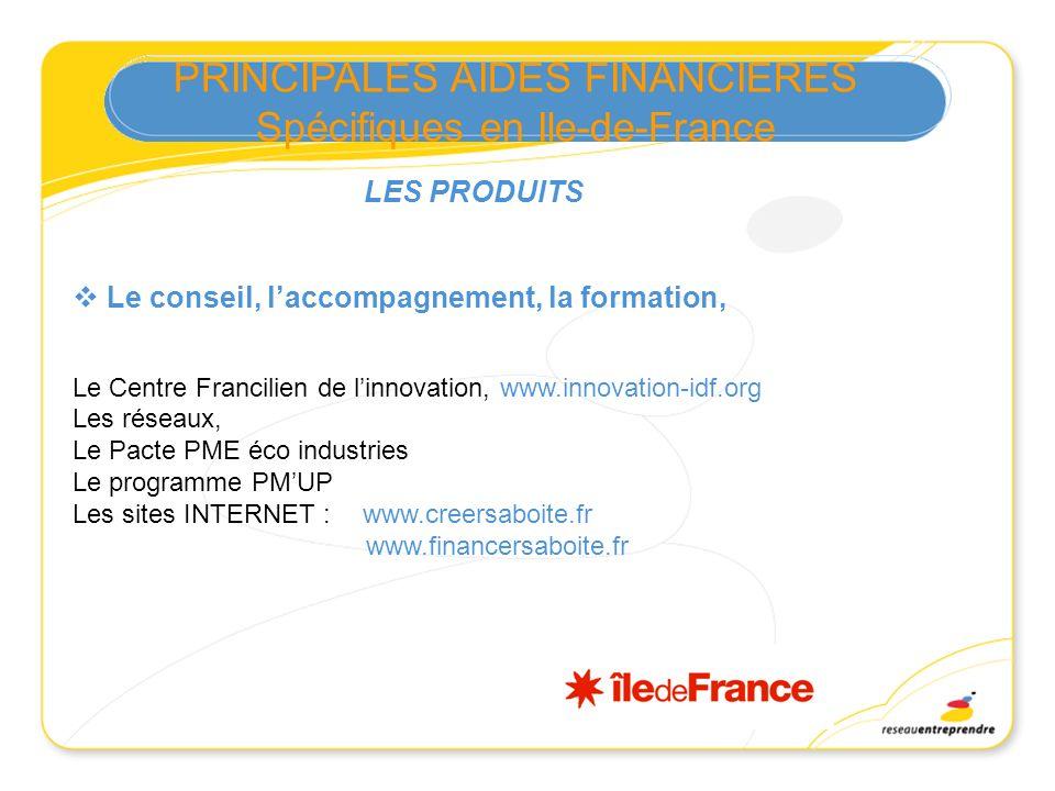 Le conseil, laccompagnement, la formation, Le Centre Francilien de linnovation, www.innovation-idf.org Les réseaux, Le Pacte PME éco industries Le pro