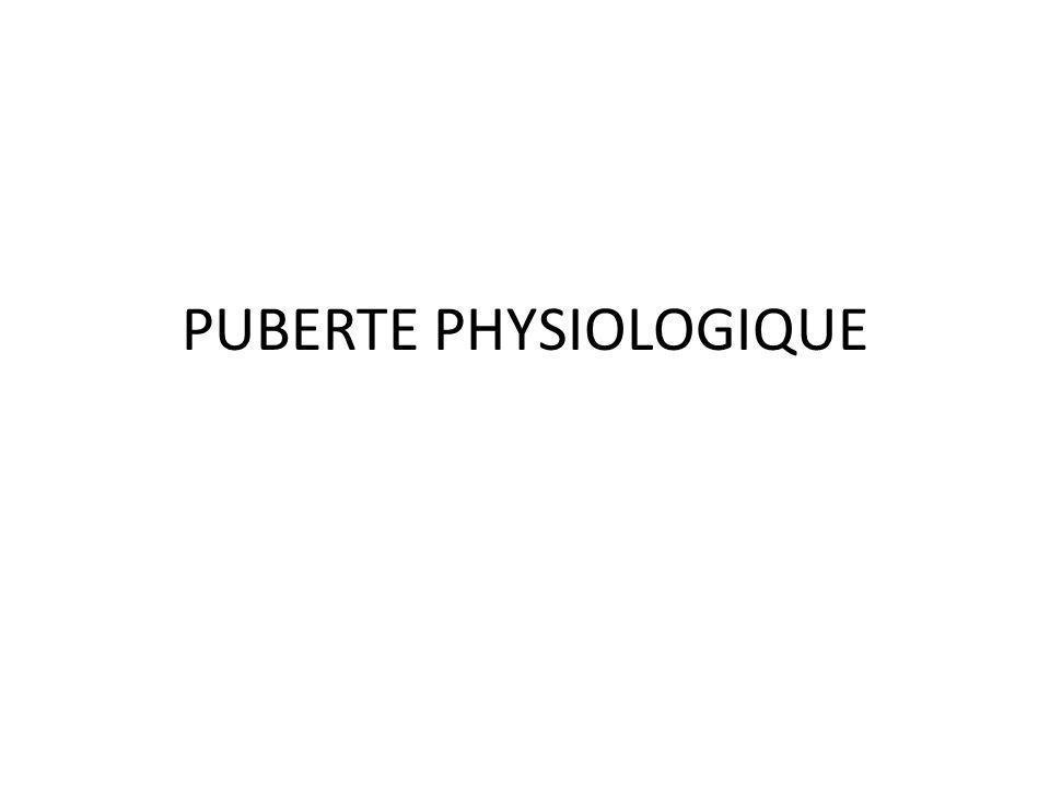 PUBERTE PHYSIOLOGIQUE