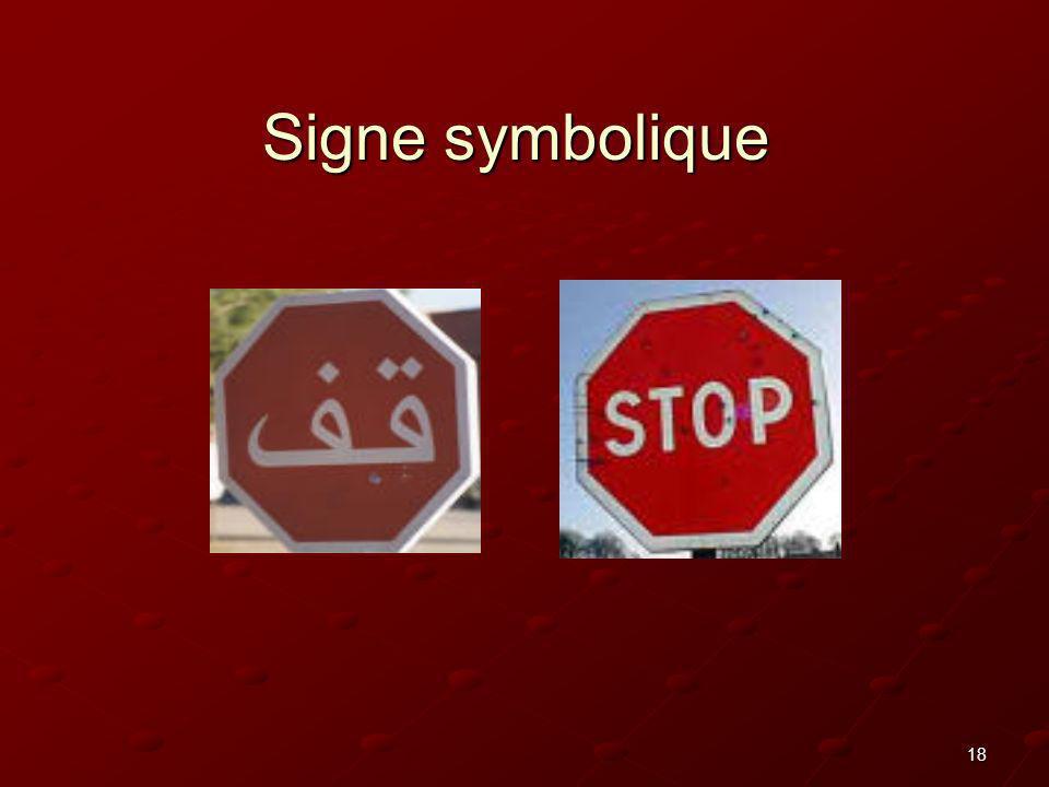18 Signe symbolique