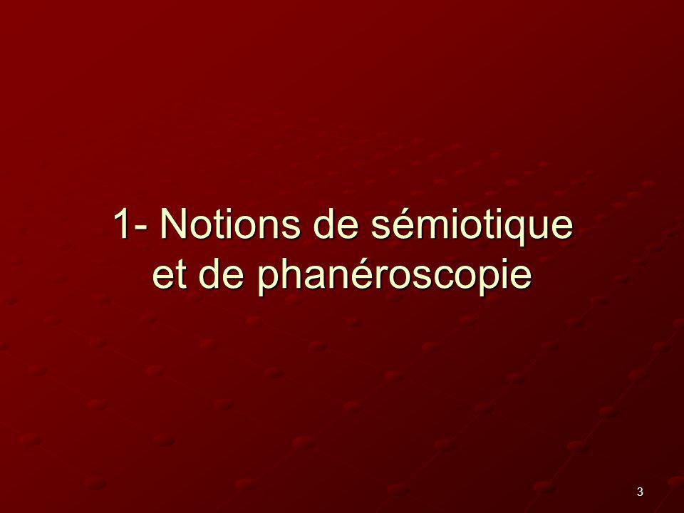 3 1- Notions de sémiotique et de phanéroscopie