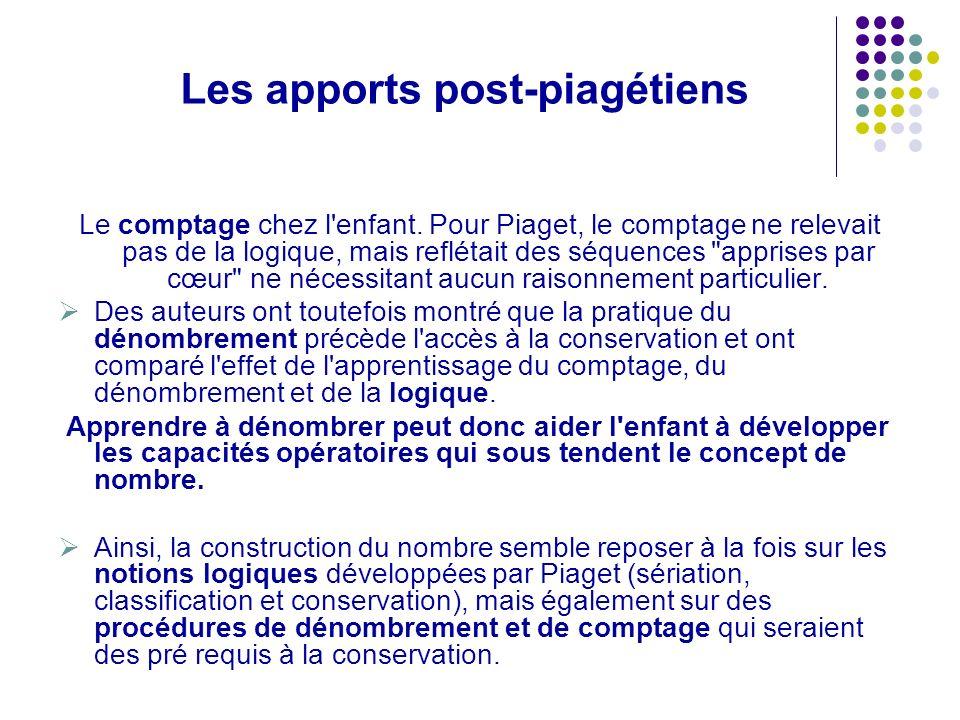 Michel FAYOL dégage 2 groupes d activités : La construction logique du nombre en s appuyant sur les travaux de PIAGET : les opérations logiques de classement et de sériation; la correspondance terme à terme.